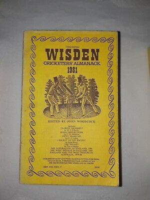 Wisdens Cricketers Almanack 1981 Softback