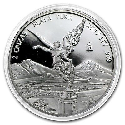 *SALE* PROOF LIBERTAD - MEXICO - 2017 2 oz Proof Silver Coin in Capsule