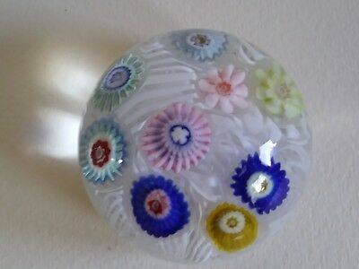 Pretty Little Vintage Millefiori Glass Paperweight