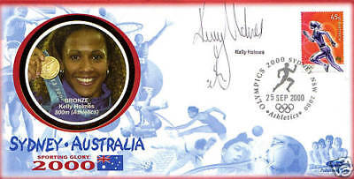 2000 Olympic Games Benham Commemorative Cover Signed Dame Kelly Holmes Shs