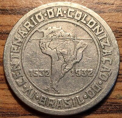 1932 Brazil 400 Reis 400th Anniversary of Colonization Coin