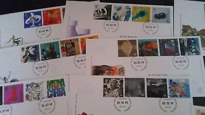 GB ROYAL MAIL FDC COVERS from 1999 - 12 Different Covers - see pics