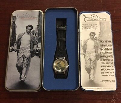 James Dean 50th Anniversary Wrist Watch In Original Tin With COA