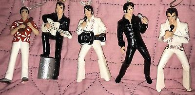 Elvis Presley Ornament Lot Of 5