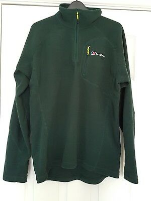 Mens Green Berghaus Kinder Fleece (Large) - Excellent Condition