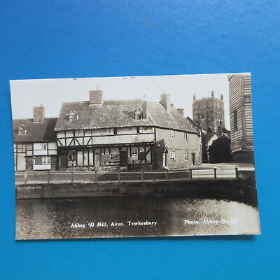 Old Postcard of  The Abbey and Mill, Avon,  Tewkesbury.