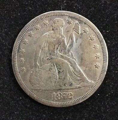 1872-S $1 Seated Liberty Silver Dollar Better Date Rare U.S. Collectible Coin