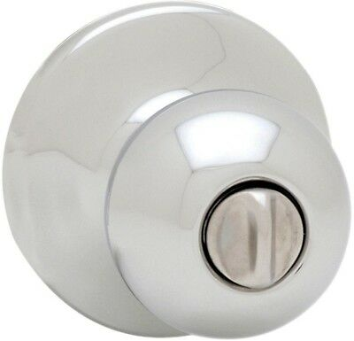 Kwikset Bed Bath Privacy Door Knob Polished Chrome Interior Round Corner Latch