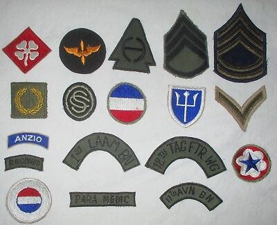 Lot 18 US Army WWII Patches Military
