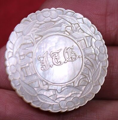 Antique Chinese  Mother Of Pearl Gaming Counters  Chips