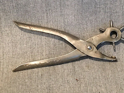Vintage General Hardware No. 72 Rotary Leather 6 Hole Punch - Made in England