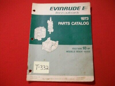 Original Factory 1973 Evinrude Outboard Parts Catalog 18 Hp Fastwin