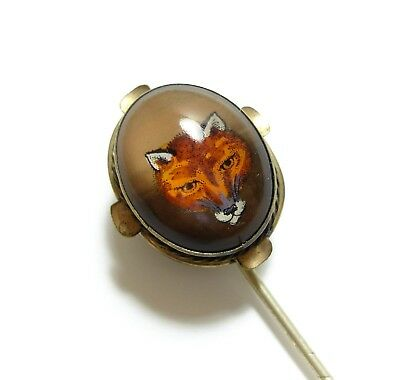 Stunning Old Large Antique Victorian / Edwardian Handsome Fox Stick Pin (D14)