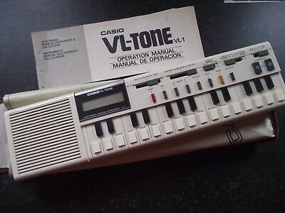 Vintage CASIO VL-TONE  VL 1 ELECTRONIC MUSICAL INSTRUMENT  & CALCULATOR