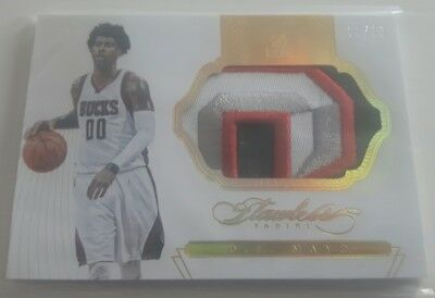 "O. J. MAYO / Panini ""Flawless"" / 4clr JUMBO PATCH  #d 2/10 (Bucks)  !!!RARE!!!"