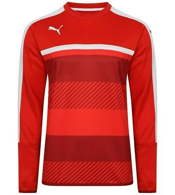 Mens Puma Veloce Football Training Top - Red Large (L)