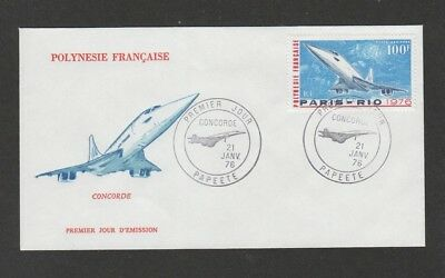 French Polynesia 1976 Concorde FDC