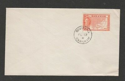 Sarawak 1952 KGVI 10c  definitive issue  FDC - uncacheted