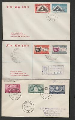 South Africa 1949/54 lot of three different FDC