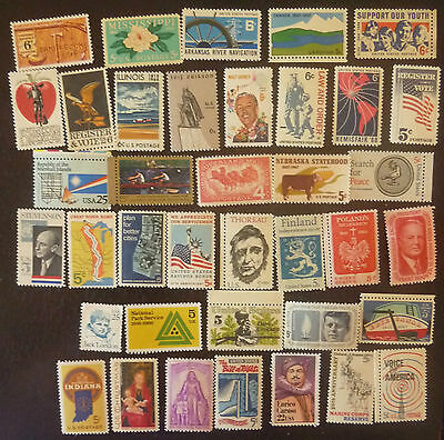 38 Timbres Neufs Us  1967-68