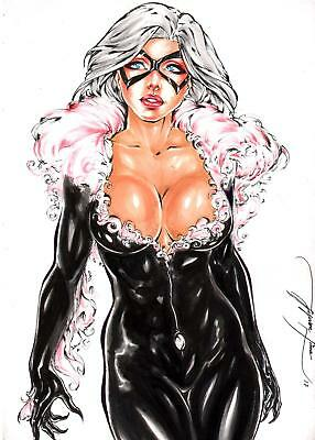 "Black Cat (09""x12"") by Jeferson Lima - Ed Benes Studio"
