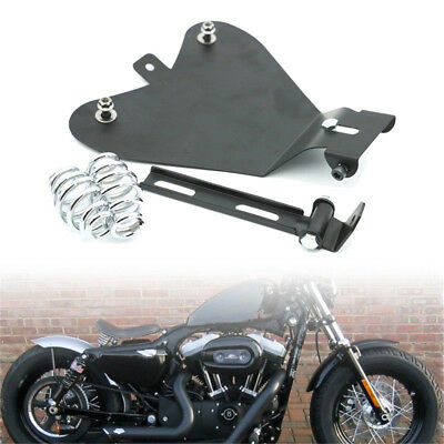 Motorcycle 3'' Solo Spring Mounting W/ Seat Baseplate Bracket For Bobber Chopper