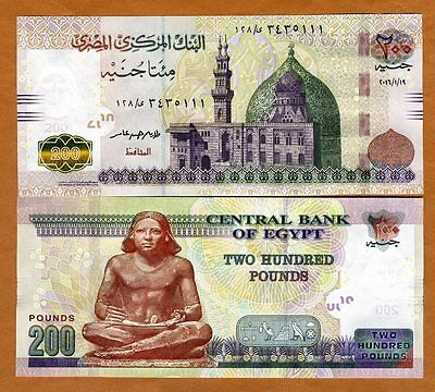 Egypt, 200 Pounds, 2016, P-New, UNC