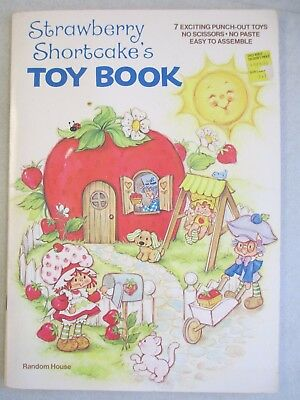 Unused 1980 Strawberry Shortcake Toy Book - Punch Out Paper Toys & Paper Dolls