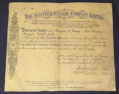 The Scottish Cyanide Company Limited - 1905