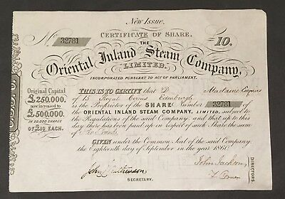 The Oriental Inland Steam Company, Limited - 1860