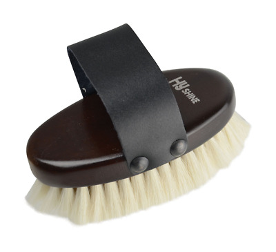 HySHINE Deluxe Goat Hair Wooden Body Brush - Small