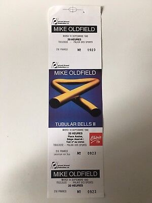 Mike Oldfield Rare Concert Ticket Toulouse 1993