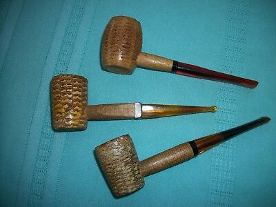 VINTAGE  MISSOURI MEERSCHAUM CORN COB PIPES Lot of 3