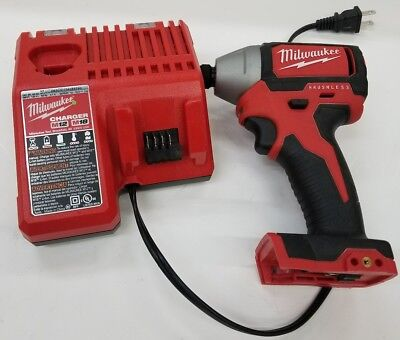 """Milwaukee 2750-20: M18 Brushless 1/4"""" Hex Impact Driver Bare Tool & Charger Used"""