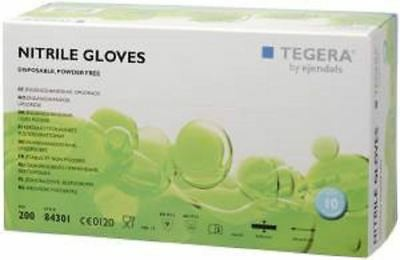 Box 200 TEGERA 84301 Premium Blue Nitrile Powder Free Disposable Gloves