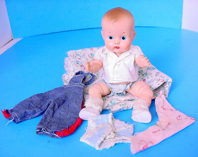 1950s VOGUE JIMMY BABY DOLL w OUTFITS GINNY & GINNETTE