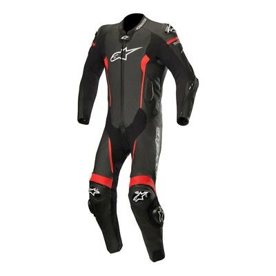 Alpinestars Missile Mens 1 Piece Leather Suit Black/Red