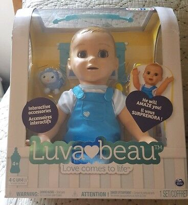 Luvabella LuvaBeau blonde Boy Doll Toys r us Exclusive in Hand New