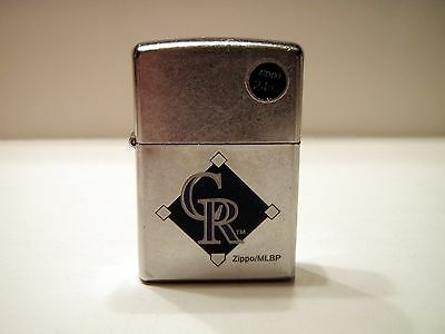 New without Box Brushed Steel Colorado Rockies MLB Baseball Zippo 01