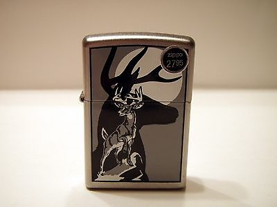 New without Box Black & White Deer Buck Zippo  10