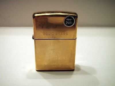 New without Box Solid Brass Zippo 09