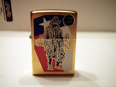 New without Box Brushed Cowboy Texas Texan Zippo 09