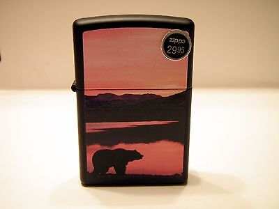 New without Box Grizzly Bear Lake Scene Zippo 10