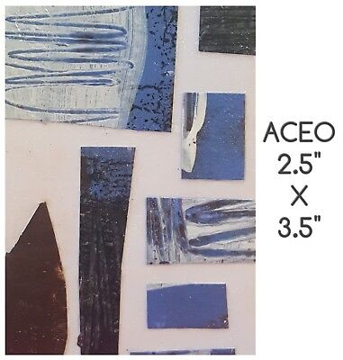 Aceo Bipolar Brut Art Marci Del Mastro Outsider Naive Ooak Abstract  Leaf Modern