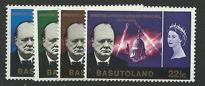 BASUTOLAND 1966 Churchill set UM