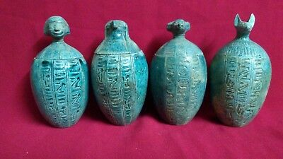 4 canopic jars of Ancient Egyptian Civilization