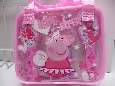 Peppa Pig pink and blue Wash Bag & Hair accessories