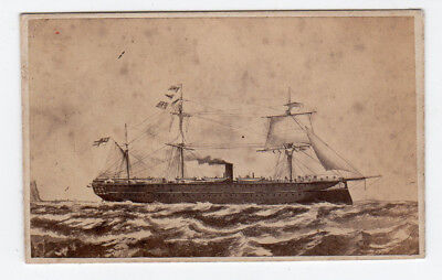 CDV Naval Old Sailing Ship by Symonds of Portsmouth nice early image