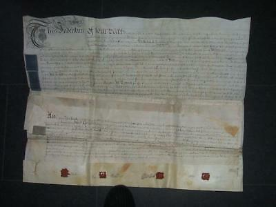 "Old Large 1779 Indenture  ""Timber Merchant"" in Monmouth!! D17"