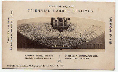 Music Handel Triennial Festival Crystal Palace 1865 Messiah view of orchestra